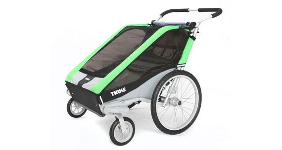 Thule Chariot Cheetah 2 + Strolling Kit Przyczepka rowerowa zielony/czarny